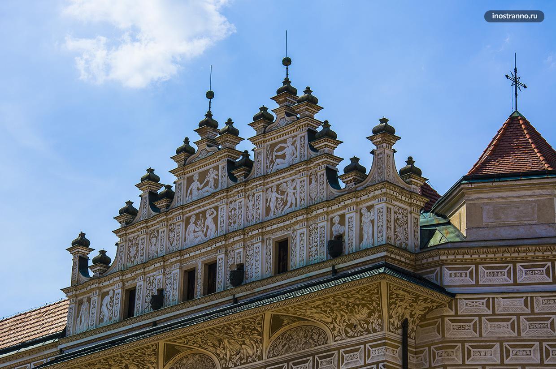 Красивый замок Литомишль
