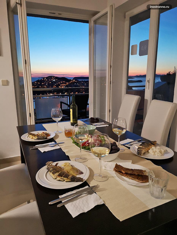 Ужин в Дубровнике