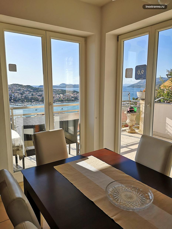 Отель с красивым видом в Дубровнике