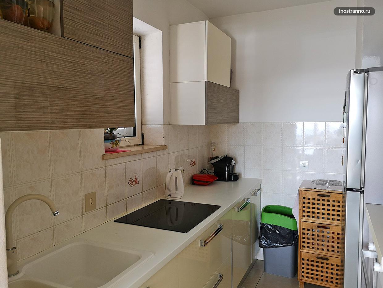 Кухня в квартире в Дубровнике