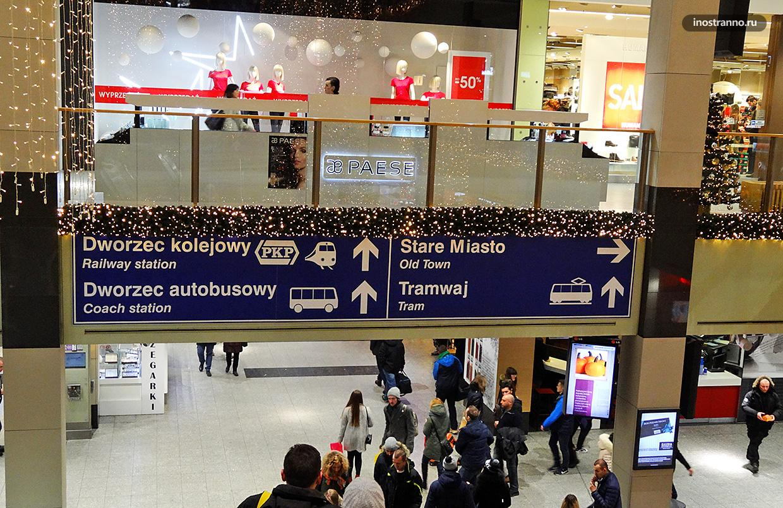 Главный автовокзал в Кракове