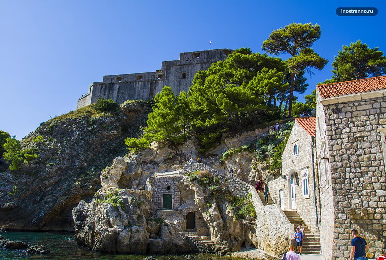 Форт Ловриенац крепость в Дубровнике