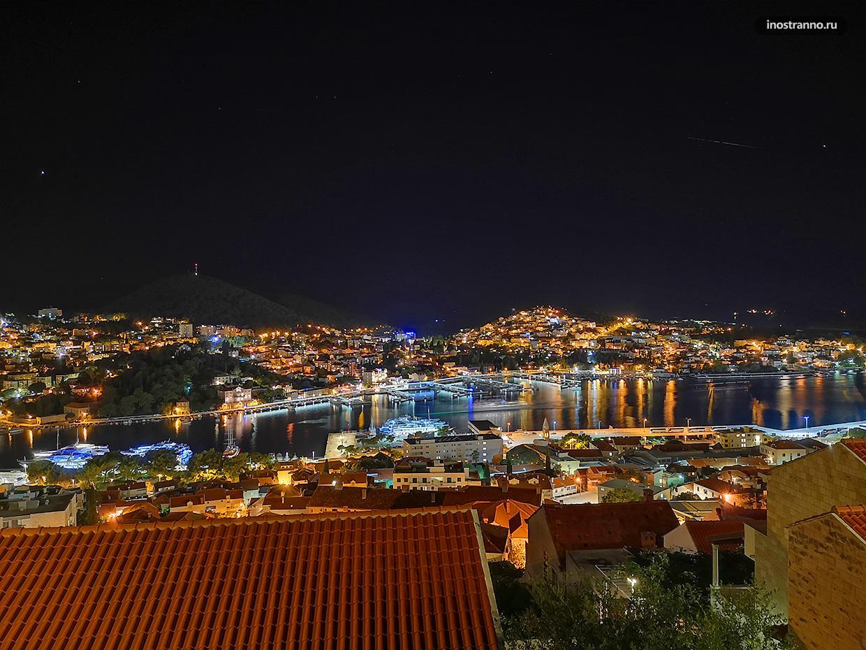 Ночной Дубровник