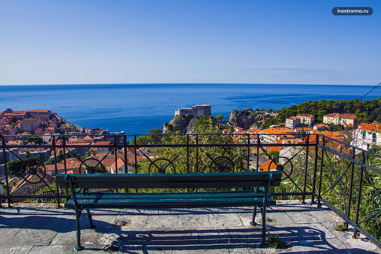 Смотровая площадка в Дубровник бесплатная