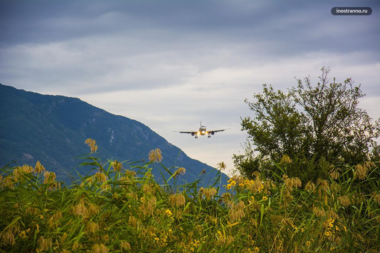 Живописный аэропорт Тиват