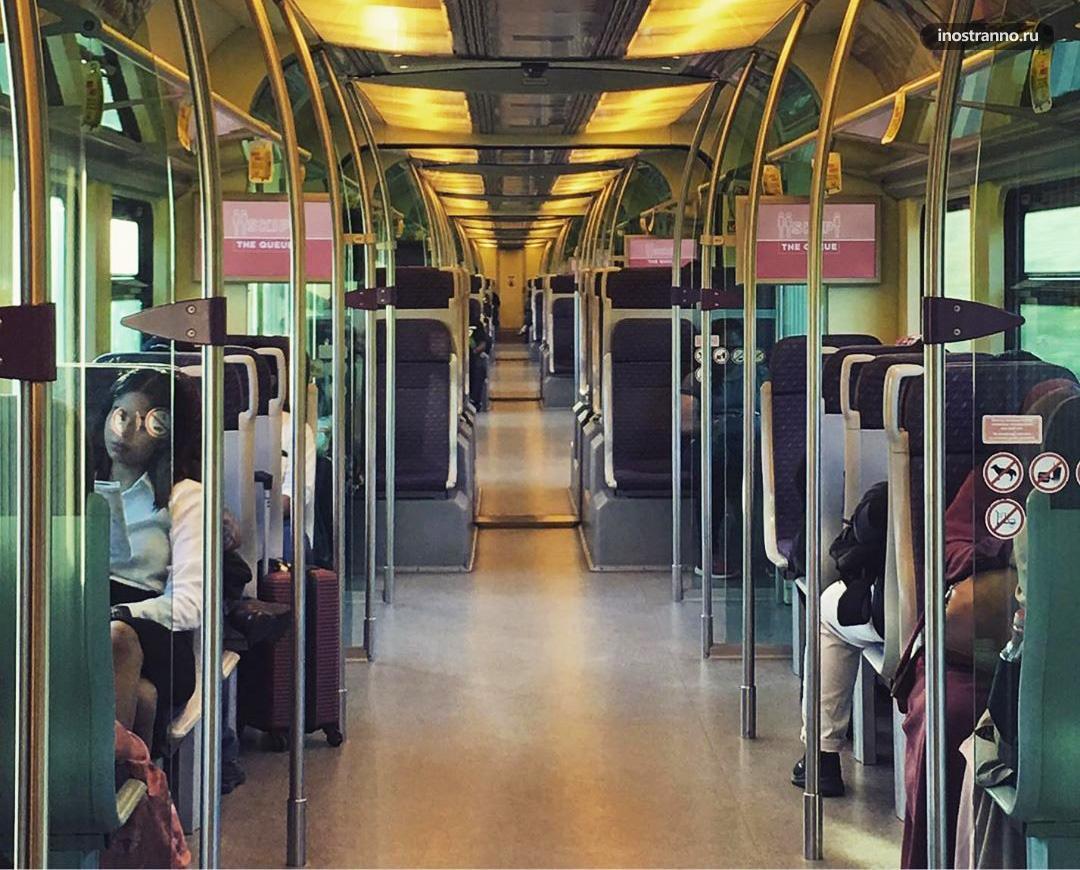Поезд KLIA Express из аэропорта Куала-Лумпур
