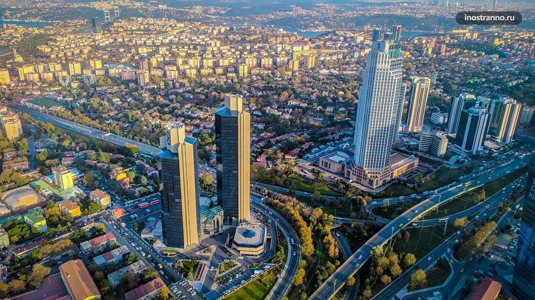 Небоскрёб Сапфир в Стамбуле панорамный вид