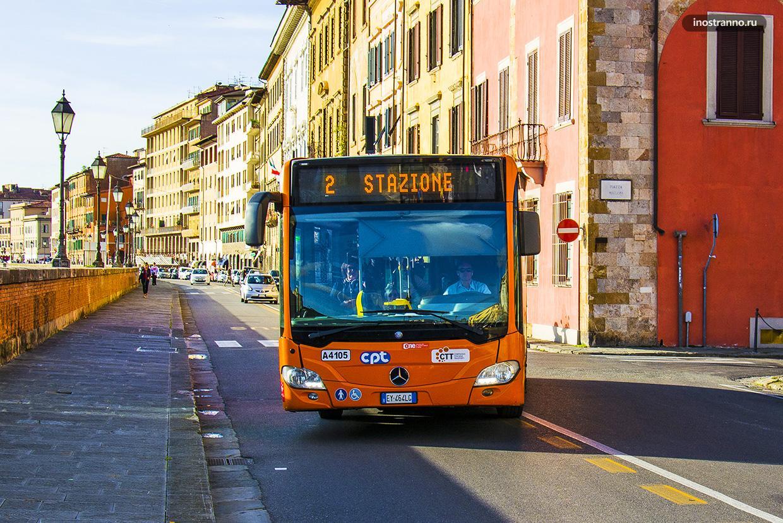 Городской автобус в городе Пиза