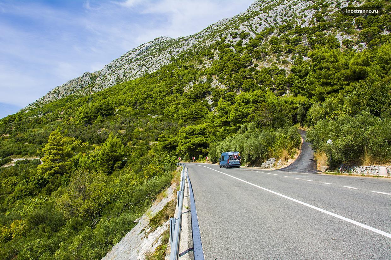 Адриатическое шоссе в Хорватии