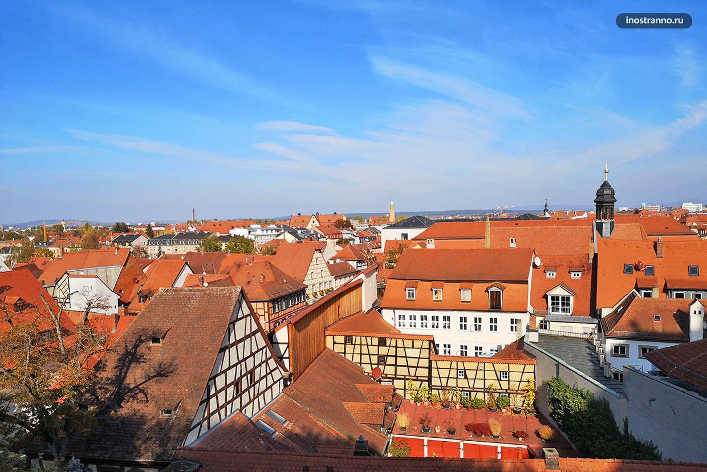 Панорама немецкого города Бамберг