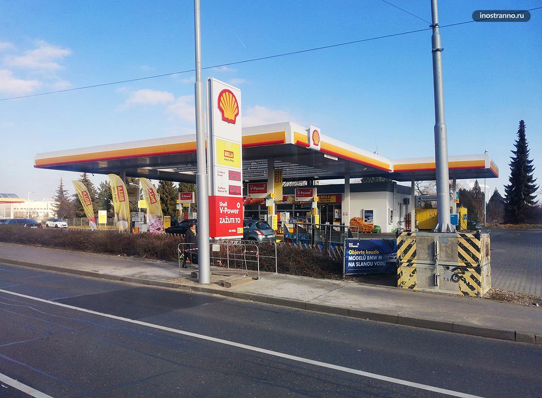 Заправка в Праге цены на бензин и дизель