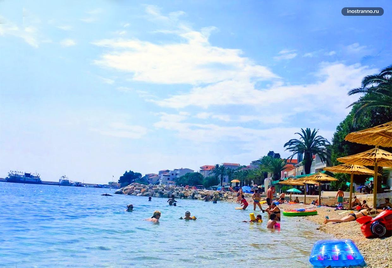 Пляж Gornja Vala в Градаце