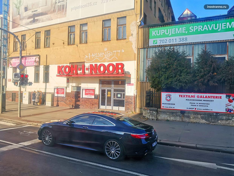 Трамвайная остановка Koh-i-noor в Праге