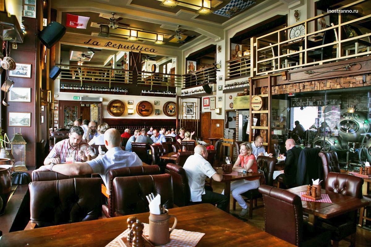 La Republica стильный ресторан с музыкой в Праге 1