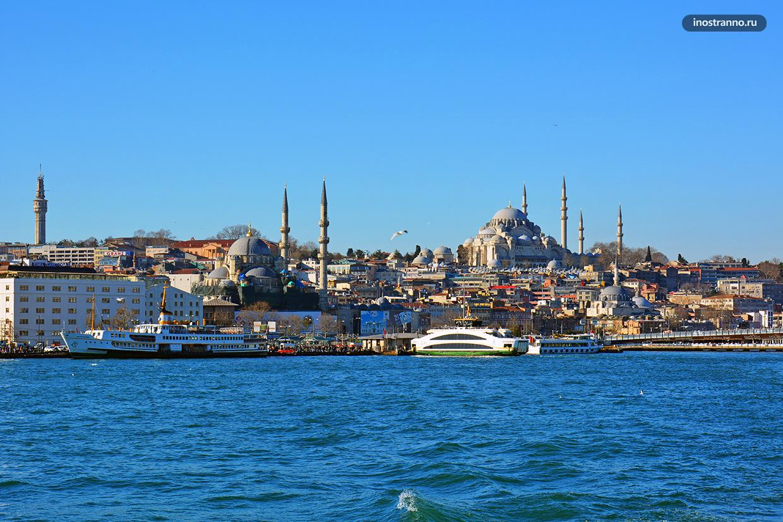 Фото Стамбула с Босфора