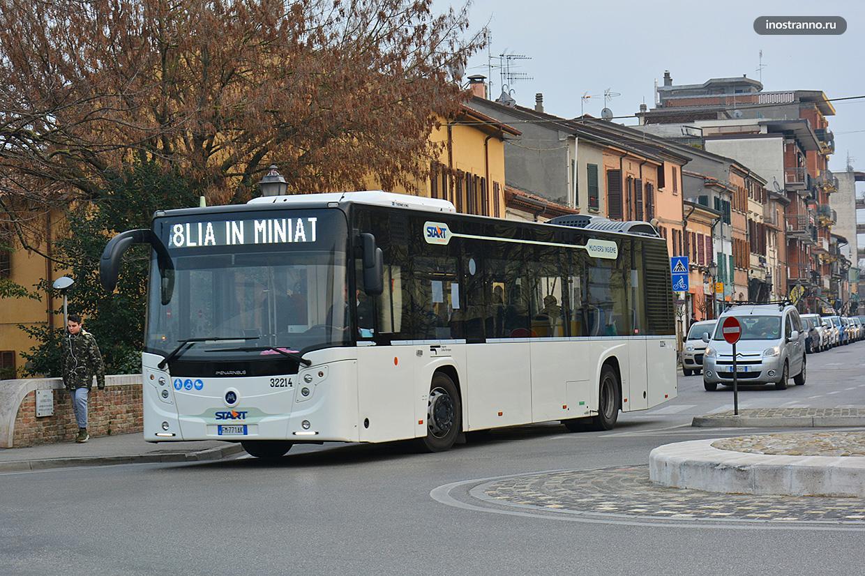 Римини городской транспорт автобус