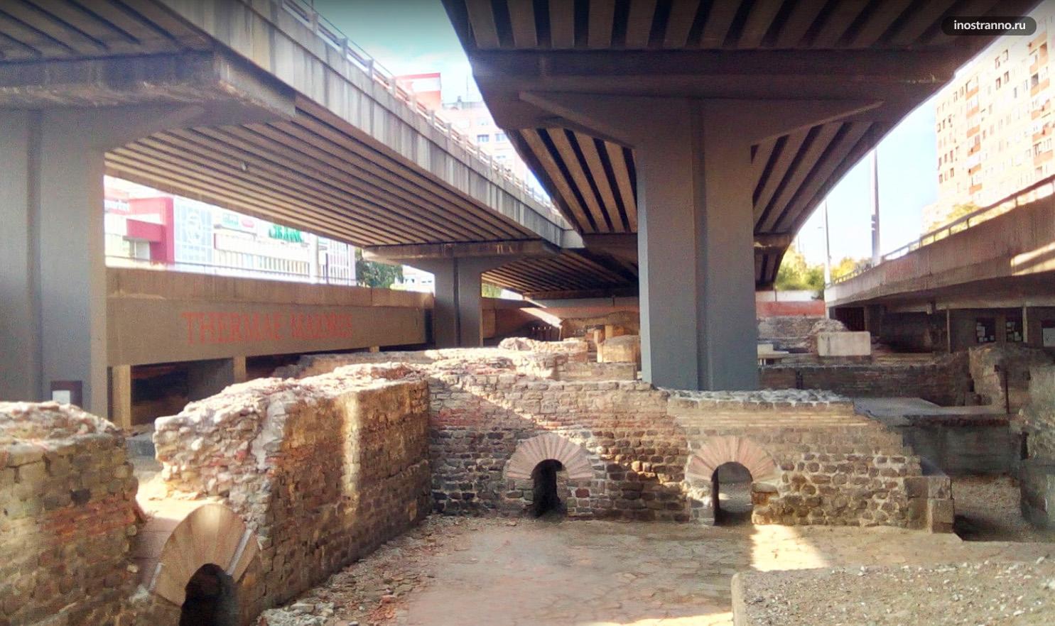 Терма Майорес развалины античного города в Будапеште