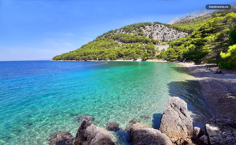 Пляж Велика Дуба в Хорватии