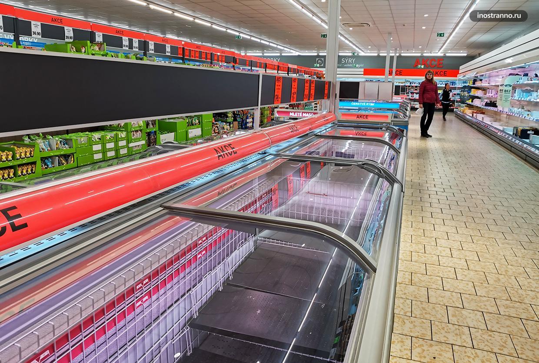Пустой магазин в Германии и Чехии