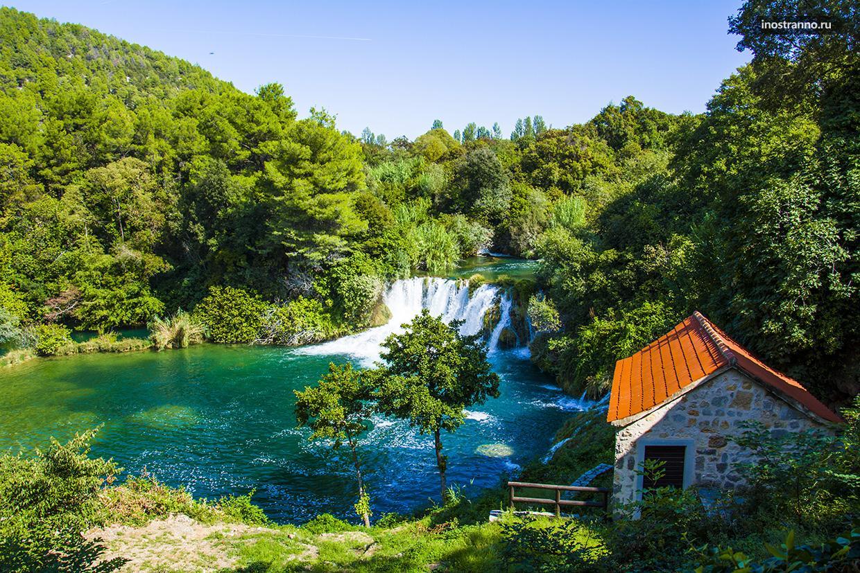Красивый Национальный парк в Хорватии