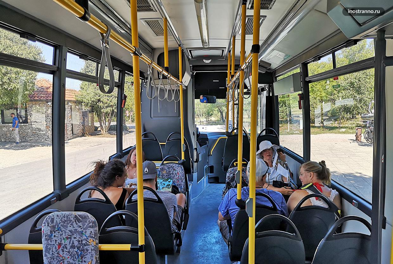 Автобус в парке Крка и как добраться