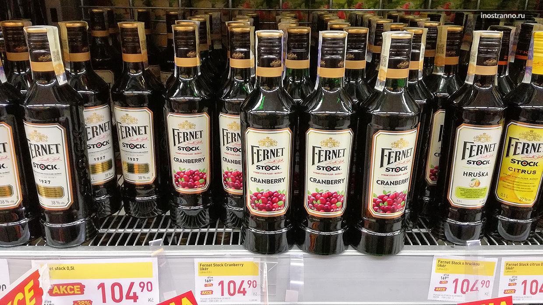 Недорогой и вкусный ликер из Чехии Fernet Stock