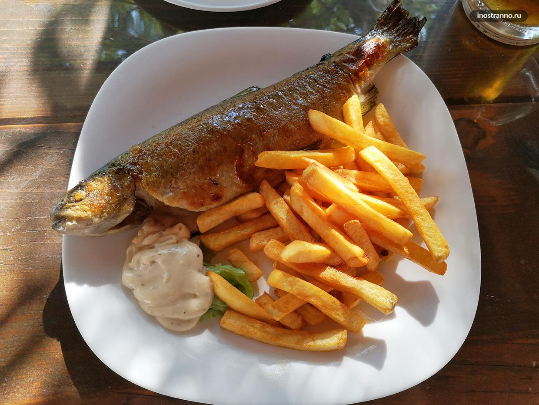 Еда в Национальном парке Крка