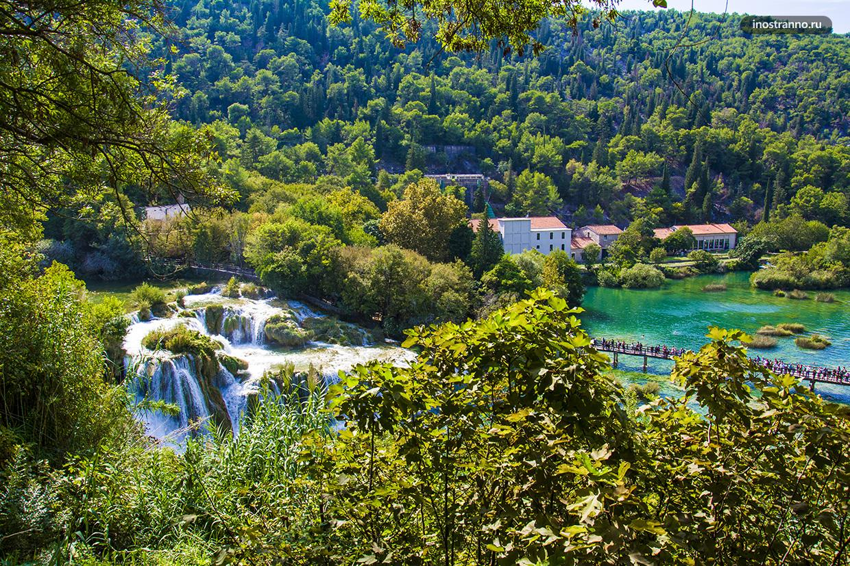 Национальный парк Крка куда съездить из города Сплит