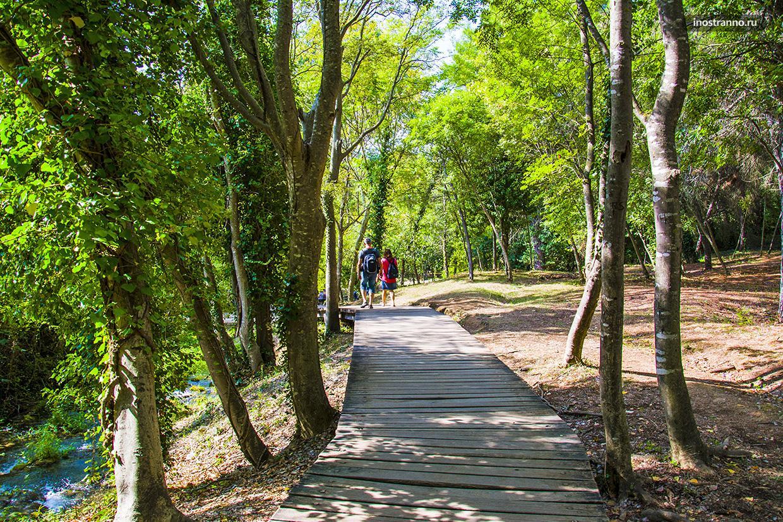 Национальный парк Крка маршрут прогулки