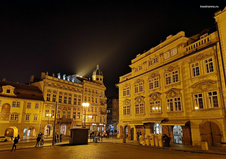 Прага фото ночью