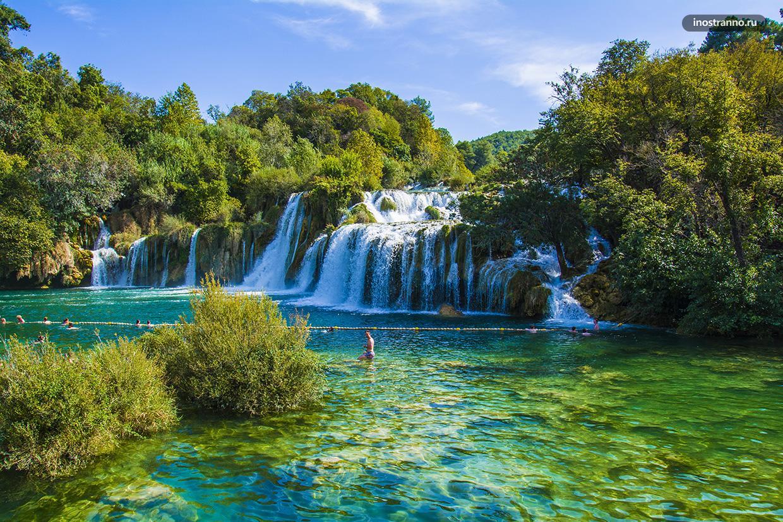 Водопад Скрадинский Бук в парке Крка