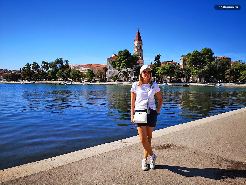Панорама хорватского города Трогир