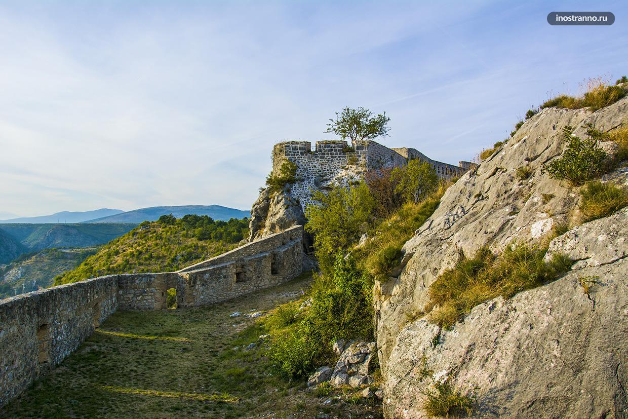 Красивая крепость в Хорватии