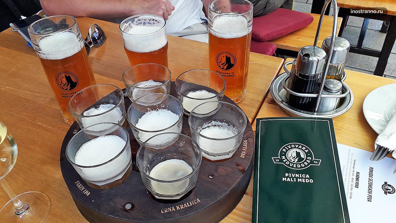 Пивная в Загребе со своей пивоварней