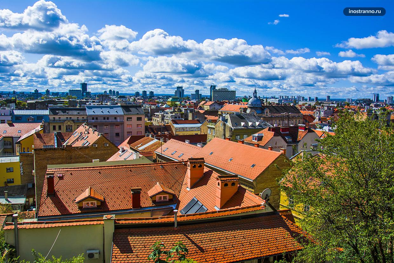 Лучшая смотровая площадка в Загребе