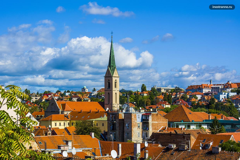 Бесплатная смотровая в Загребе