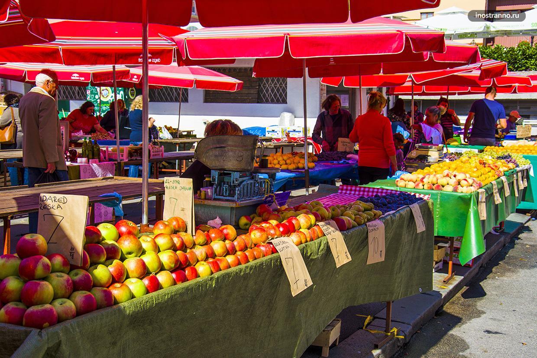 Цены на фрукты в Загребе и Хорватии