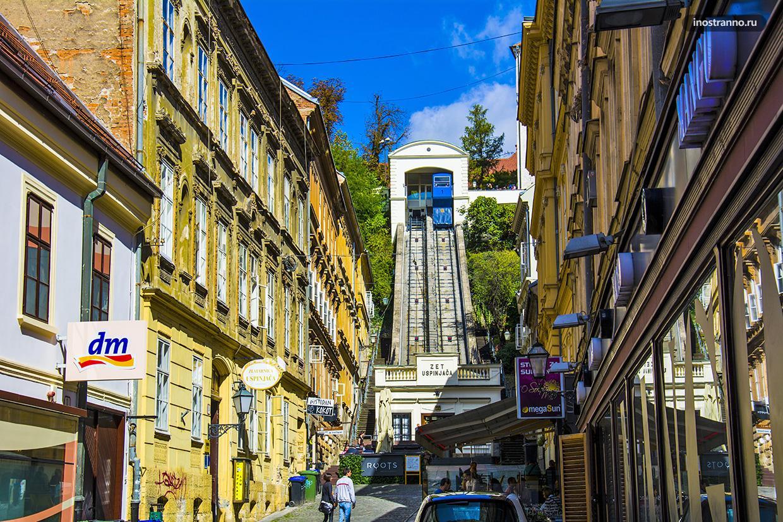 Фуникулер в Загребе