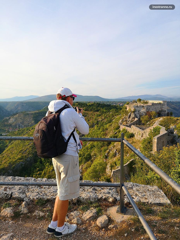 Панорама крепости Книн