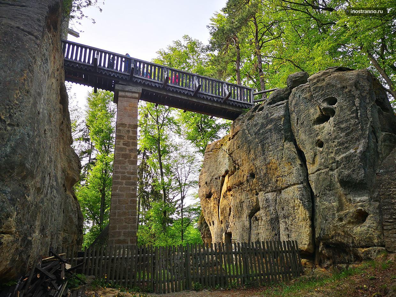 Мост в чешский замок Кокоржин