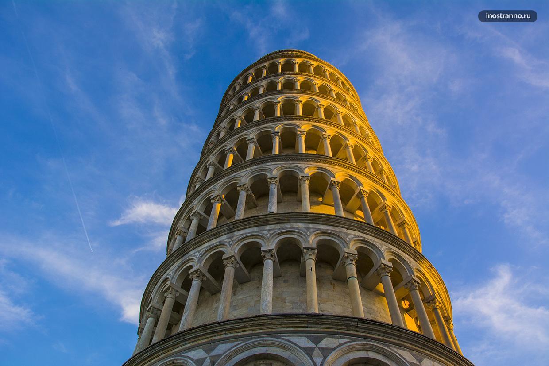 Высота Пизанская башня