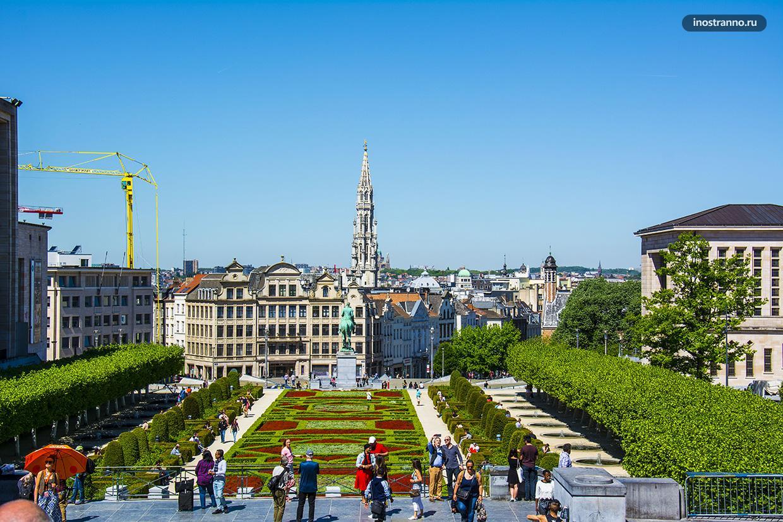 Гора искусств лучшая бесплатная смотровая в Брюсселе