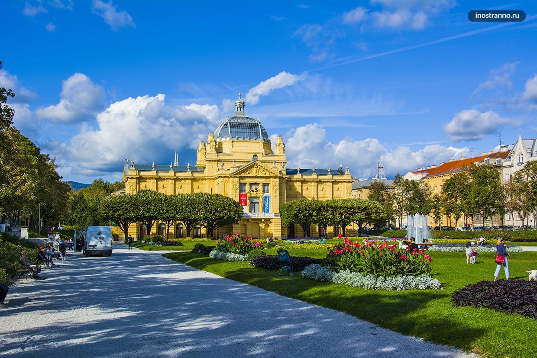 Самый красивый парк с цветами в Загребе