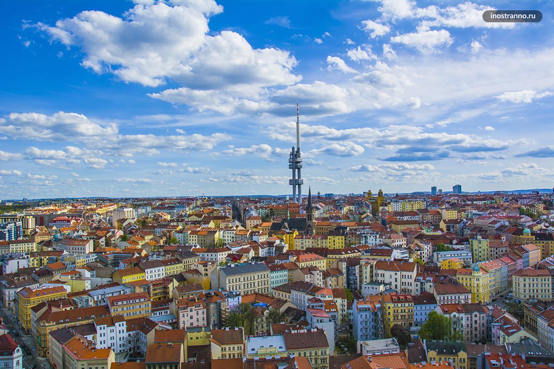 Панорама Праги с интересной смотровой
