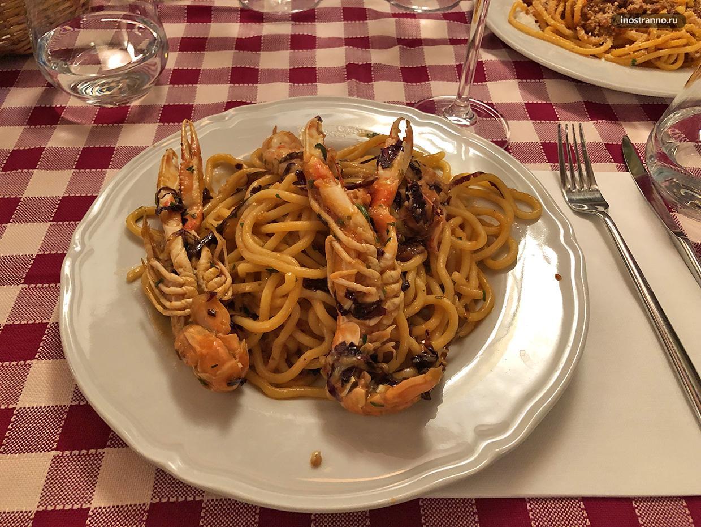 Вкусный ужин в Пизе