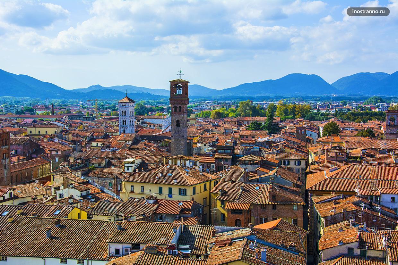 Красивая панорама итальянской Лукки