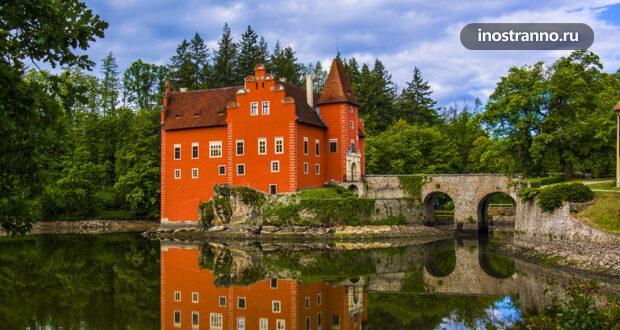 Червена-Лгота – самый фотогеничный замок южной Чехии