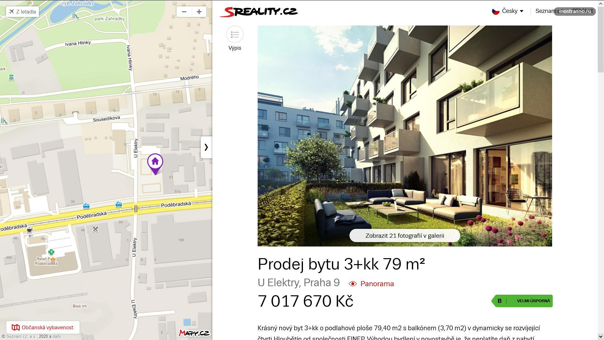 Новостройка в Праге 9 сколько стоит