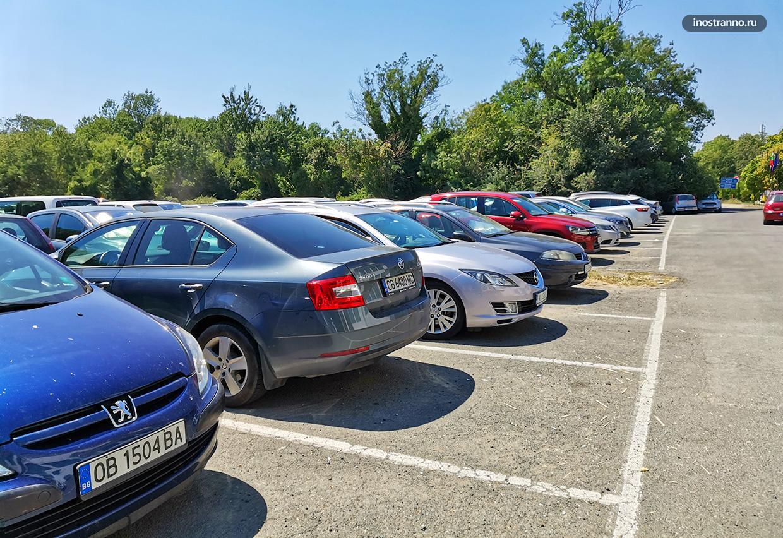 Парковка у пляжа в Болгарии