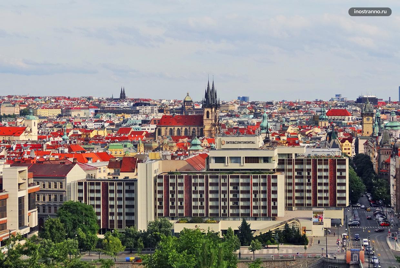 Отель Интерконтиненталь в Праге в стиле Брутализм
